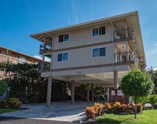 Two income producing apartment buildings in the heart of Kailua Kona. The first building with eight spacious one bedroom/ one bath/ den area are nicely appointed with solid wood cabinetry, and granite counter tops in the kitchen. The floor plan of each apartment includes a laundry area and private lanai. Assigned covered parking available for each tenant. The second building, which is under construction, is scheduled for completion Fall 2017. This second building is fifteen studio apartments and (2)  two bedroom apartments. Nicely appointed with similar features and finishes, private lanai and covered assigned parking for each resident. This apartment complex is centrally located in Kailua Kona; with proximity to shopping, amenities, and just a few blocks to the ocean.   The information herein may contain inaccuracies and is provided without warranty or guaranty of any kind. Agents and Buyers must independently verify any information they deem material or important to their purchase or any offered price there under. Please refer to the Title Report for easements and setbacks.