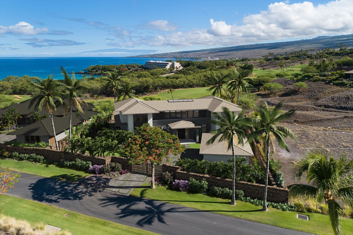 "A unique opportunity to purchase a new home in the prestigious private gated community of ""Kauna'oa at Mauna Kea"" located within the iconic Mauna Kea Resort.Scheduled for completion in September 2020, this spacious two story home is situated on a stunning ocean view lot of over one acre overlooking the 10th Fairway of the Mauna Kea Golf Course. Enjoy spectacular ocean and Maui views with the sound of the surf at Kauna'oa beach which is a short stroll or cart ride away offering easy access to the beach at Mauna Kea and all the amenities the Mauna Kea Resort has to offer.The home provides over 5,400 square feet of living area with eight bedrooms and eight and a half bathrooms and just under 1,600 square feet of covered lanai. Whether you choose to utilize all eight rooms as bedrooms or set up his and her offices and children's home study rooms, the home offers a plethora of options. The vast open lower level lanai area with a spectacular pool and spa and a fire pit for entertaining with family and friends with views to the ocean, Maui and beyond. The upper level gathering room is complete with a pool table and bar area with a large covered lanai area offering stunning views.The home is being sold turn key furnished with exquisite furnishings and accessories. Plans and furnishings specs are available upon request.Owners at Kauna'oa enjoy the benefits of the Kauna'oa Club facility including a fitness center, pool, spa, meeting room, concierge services and a private Weiskopf designed Par 3 practice course with no tee times required.In addition to the amenities within Kauna'oa, owners will also have the opportunity to become members of The Club at Mauna Kea. Whether it be the Silver, Gold or Platinum level, there is a club membership package suitable for all tastes."