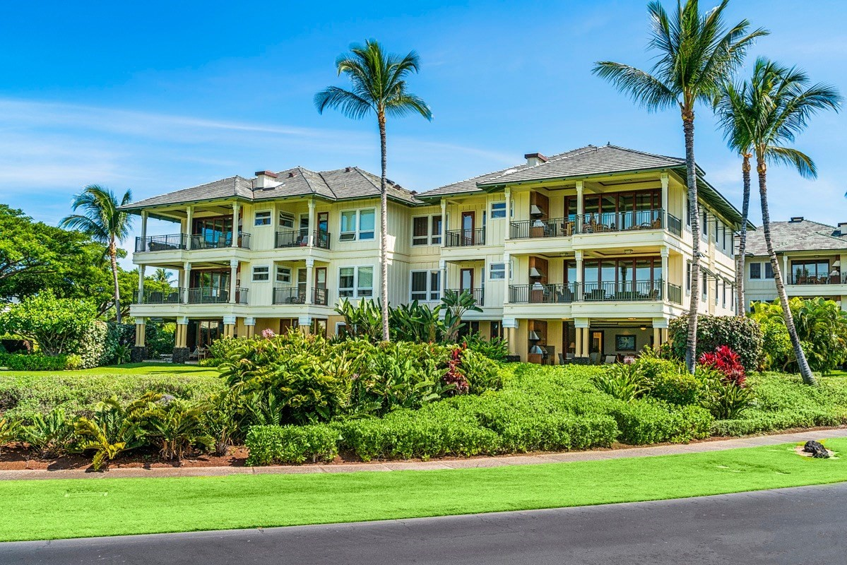 """Kolea is the premier residential beachfront community on the Kohala Coast and is located in the tropical Waikoloa Beach Resort. Just a few steps along the footpath and you are on the sands of famous Anaehoomalu Bay where you can swim, surf, snorkel, sail or kayak. Villa 13A has the best ground floor locations at Kolea and has it all and then some. Open the 9'retractable African Mahogany pocket doors and enjoy your outside kitchen and large grass area that extends your living area and provides lots of room for the kids to play catch, frisbee or just run around. This location provides easy access to the pool, the fitness center, and the beach at """"A"""" Bay. And you're just a short walk to The Kings Shops and The Queens Marketplace where you'll find world class dining and shopping.Tastefully decorated with upgraded tile flooring, African mahogany wood, nine foot ceilings, Viking and Sub-Zero appliances, wine cooler, granite stone, marble bath counters, large covered lanai with gas grill and wet bar, central air, structured wiring for all your high tech toys, attached one-car garage, and much, much more. Kolea offers a private Beach Club, a dramatic Infinity pool and spa, two guest """"hales"""" available for homeowners and guests, a work-out facility and an entertainment area with a kitchen.It's time to make your dreams come true!"""