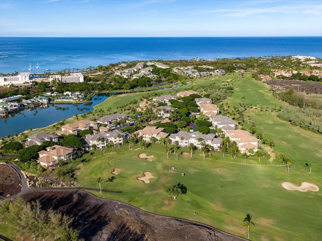A STAND-OUT FROM THE REST! RESORT CONDO SHOWS LIKE A MODEL!Lots to love about this picture-perfect ground floor condo at highly-desirable Fairway Villas at Waikoloa Beach Resort. Easy walk to all resort amenities and Anaeho'omalu Beach — A Bay. A self-managed vacation rental with repeat renters booked Dec. 2020 through April 2021, subject to changes.EXTERIOR- Spectacular lanai view of 4 volcanos - Kohala, Mauna Kea, Mauna Loa, Hualalai. Watch dramatic color changes at sunrise and sunset and the next full moon rising. Nature's best entertainment.- Set on the Beach Course's first fairway, the condo has a large yard and beyond that, the historic petroglyph field and King's Trail.- Enjoy the inviting lanai...turn on the attractive ceiling fan and bring out the pupus.- Near the beautiful NEWLY-HEATED pool with golf course view, Kings' Lake, twinkling lights from Kings' Shops & fitness center, BBQS.INTERIOR- Do you love Hawaiian decor? Tommy Bahama, Broyhill furniture are accessorized with charming art of Hawaii scenes, surfing, beach. - New full-size washer dryer.- Newer fridge, microwave, dishwasher, water heater.- Quality window coverings, shades.- Sparkling glass shower doors freshly cleaned, sealed.- Handy sofa bed.- Lots of extras — beach toys, bedding, kitchen items, art, accessories, golf clubs.- Yale keypad for front door keyless entry.HOA DUES INCLUDE:- Ground floor units pay $46 less per month than upper floors.- 200 cable channels, Wi-Fi, internet - nearly $200 value if paid out-of-pocket.- Professional Resident Manager.- Beautifully maintained grounds.- Garbage removal, water, septic, building maintenance, roof, building insurance, reserves for future major maintenance.You will enjoy relaxing and playing at your Hawaii retreat complete with great neighbors. More full-time residents live at Fairway Villas than at any other complex in the resort.