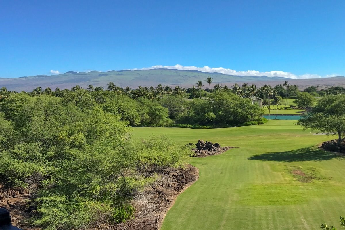 Incredible value in this ready to build home-site fronting the #15 Mauna Lani North course with great fairway, water feature, Mauna Kea and sunrise views. Over 1/2 an acre in exclusive, private, gated, residential enclave of custom homes, surrounding a manicured park with fruit trees and herb garden. Peaceful, tranquil mature community with beautifully landscaped custom residences.