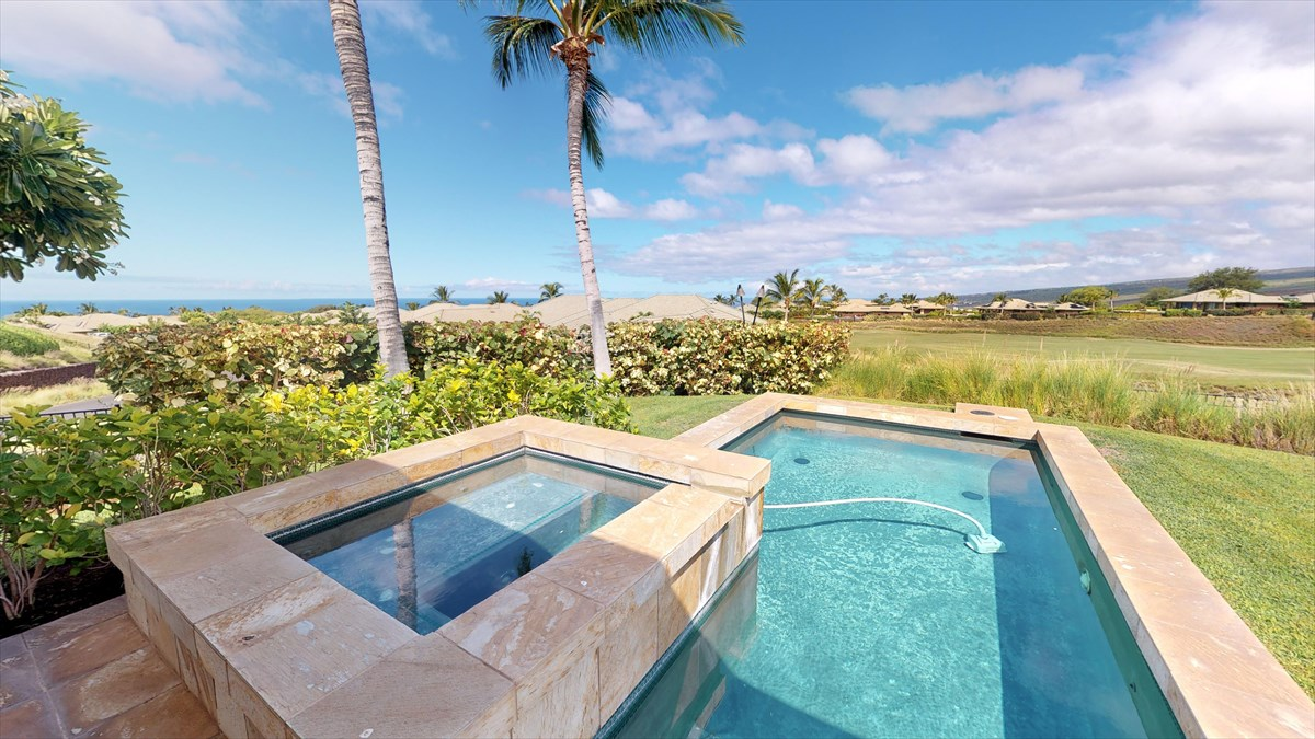 See it now in the Interactive Virtual Tour here: https://my.matterport.com/show/?m=G2mq4hpC9G5&brand=0AMAZING Ocean and Kohala Mountain Views, Private Heated Built-in Pool and Spa, Custom window coverings, Outdoor Wolf and Subzero kitchen, Granite Counters in the kitchen and bathrooms, 2 zone A/C, Wolf and Subzero appliances, Large sliding pocket doors to the lanai, Jr. Master Soaking tub, OUTDOOR Private Master shower, Stained wood trim package, Large Lanai, Some USB outlets, LED lighting throughoutAccess to Wai'ula'ula Owners Exclusive Amenity Center with Pool, Spa, Fitness Center, Kitchen and Event RoomSale Includes all furnishing (some art/personal items excluded) and can be a turn key vacation rental.SALE INCLUDES A BRAND NEW 4 SEAT CUSTOM ELECTRIC WITH LITHIUM BATTERIES GOLF CARTOwners have the opportunity to join The Club at Mauna Kea with three separate levels of resort member amenities including golf, beach, tennis, fitness, owner discounts, etc. Whether you choose the Silver, Gold or Platinum level, there is a membership opportunity right for you.