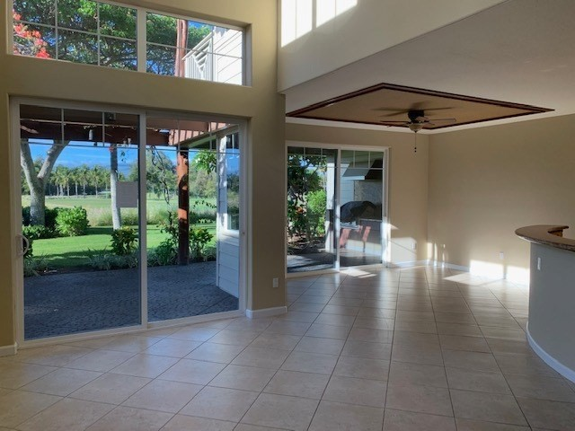 Resort style living in this super nice 3 bedroom / 3 bathroom corner unit town home located on the golf course. Large open layout for kitchen, dining, and living area. Lots of windows with awesome views. A few short steps to the Queens Market place- directly across the street which includes restaurants, movie theater, and shopping. Waikoloa beach villas are a great investment for both short term visitor rental or a long term resident.Amenities include a gated community, fitness centers, resort style swimming pools, spa and BBQ area.Ready to move in condition.-All appliances included, including washer and dryer.-Central AC.-Vaulted ceilings-End unit-One car garage-New fresh paint-Granite counter-tops-Two lanai's,one with built in BBQ