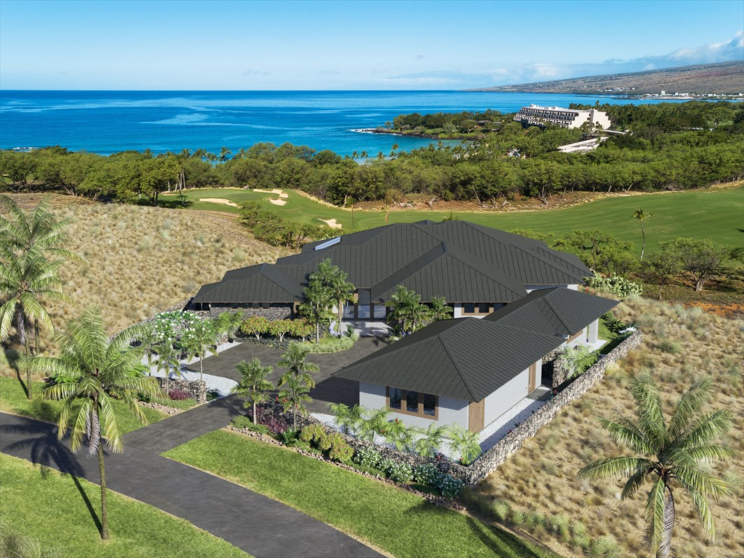 "A unique opportunity to purchase a new home to be built in the prestigious private gated community of Kauna'oa at Mauna Kea.This single level home, known as ""Mauna Kea Sea House"", is situated on a stunning three quarter acre ocean view lot overlooking the 10th Fairway of the Mauna Kea Golf Course. Enjoy spectacular ocean and sunset views with the sound of the surf at Kauna'oa beach which is a short stroll or cart ride away offering easy access to the Hau Tree Restaurant and all the amenities the Mauna Kea Resort has to offer.Scheduled for completion in the second quarter of 2021, the home provides over 4,000 square feet of living area with five bedrooms and five and a half bathrooms and just under 900 square feet of covered lanai. The vast open lanai area and spectacular pool overlooking the golf course provides views to the ocean and beyond.Construction has just begun and the Buyer who acts quickly will have the opportunity to assist in selecting various finishes for the home. To view other homes the Builder/Developer has built in Hawaii over the past 20 plus years, go to www.BDHawaii.comOwners at Kauna'oa enjoy the benefits of the Kauna'oa Club facility including a fitness center, pool, spa, meeting room, concierge services and a private Weiskopf designed Par 3 practice course with no tee times required.In addition to the extensive Kauna'oa amenities, Owners will have the opportunity to join the Club at Mauna Kea. Whether it be Platinum, Gold or Silver, there is a Club level to suit all tastes and needs.A once in a lifetime opportunity to purchase a high quality NEW home in the iconic Mauna Kea Resort."