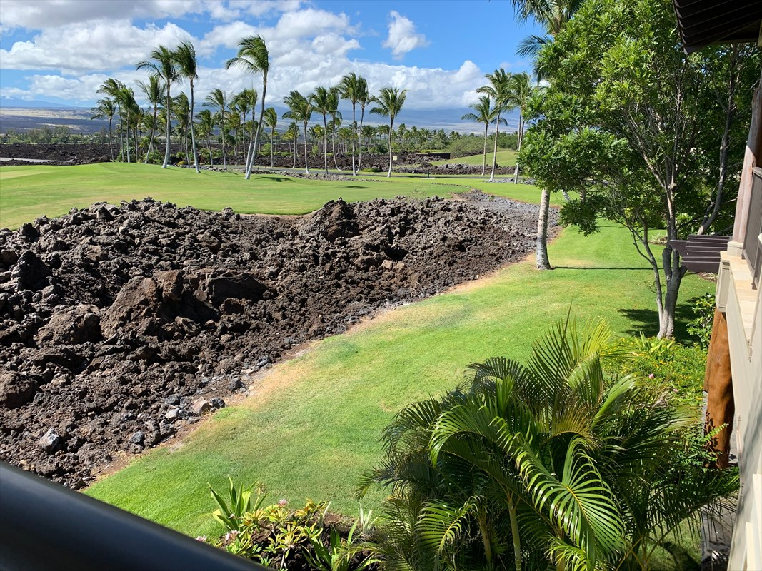 Golf Villas B4 at Mauna Lani Resort is a golf front condo positioned directly on the South Course with endless views of golf fairways.  Serene setting with wide open sunrise views over Mauna Kea and Mauna Loa Mountains.  Luxury condo in a is the largest floor plan with 2 story living room, 3 bedrooms and a loft.  Living, Dining and kitchen enjoy open plan high 2-story tall windows that allows natural light and views. Kitchen has granite counter tops, mahogany cabinets and breakfast bar.  Master suite is upstairs with beautiful bathroom an large private lanai.  The downstairs Lanai flow out from the living and dining area onto a large lanai with grassy lawn and summer kitchen including built in BBQ grill.  Enjoy outstanding views of golf and mountains in this luxury condo in a quiet upscale community.Golf Villas is private gated resort community with recreation pool, spa and and fitness center areas.  Golf Villas is beautifully landscaped and maintained. Positioned on the Mauna Lani South Course with golf frontage for all condos units.Mauna Lani Resort is a world class resort destination with two-18 hole championship golf courses and two- 5-star anchor hotels, the Mauna Lani Beach Club and the Shops at Mauna Lani and fine dining and  entertainment.