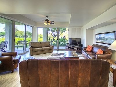Beautiful 2 bedroom, 2 1/2 bath condo located in the luxurious Waikoloa Beach Resort. Desirable 'A' floor plan which has a larger kitchen and additional half bath. A-103 recently had a complete upgrade, must see to appreciate the quality.