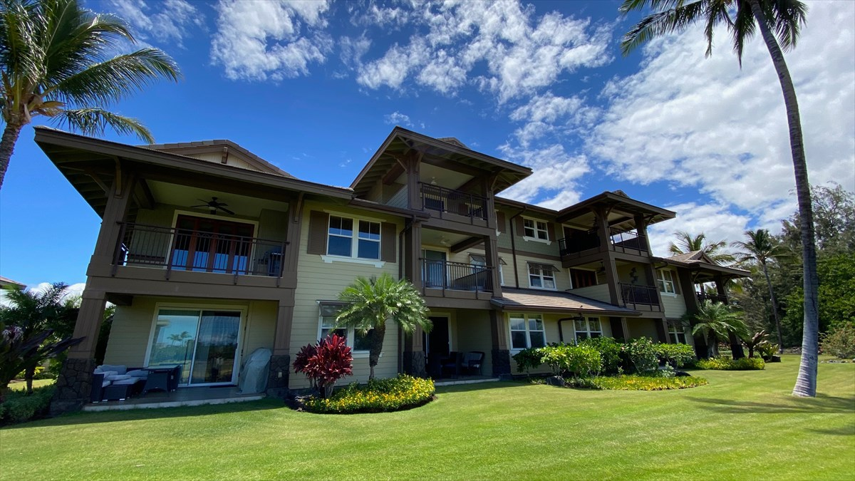 Welcome to Hali'i Kai, one of the most popular condo complexes in Waikoloa Beach Resort. Villa #3C offers an excellent opportunity to own at this upscale community. Upon entering, you'll notice the beautiful furnishings and a fresh, Hawaiian feel. Step onto the lanai and you'll be greeted with a golf-course view and cool ocean breezes. Imagine world-class sunset watching without going anywhere! Back inside, the 2 bedrooms are separated for privacy and are bright and welcoming. The owners have recently (over the past 2 years) installed updates and upgrades, including new tile flooring throughout, a new refrigerator, new mattresses in the guest bedroom, a new dining table, new kitchenware, and new patio furniture. Parking is deeded and includes a carport and assigned parking stall. A popular rental with a strong rental income history, it's offered fully furnished and ready for you to move in and start enjoying the Hawaiian lifestyle.As an owner at Hali'i Kai, you and your guests will enjoy all the luxurious amenities, including the exclusive shorefront Ocean Club, unparalleled within Waikoloa Beach Resort. The Ocean Club features a salt-water pool with privacy nooks and a Baja shelf, a jacuzzi, and open-air fitness hale, plus a bar and onsite restaurant with poolside service. The views up and down the coast are breathtaking, and the whale watching (in season) is as good as it gets. Imagine gathering around the pool at sunset with tiki torches throwing soft light, and reminiscing about your amazing day while enjoying a beverage and pupus. Located in the heart of Waikoloa Beach Resort, Villa #3C at Hali'i Kai offers a fabulous location and superb home base for exploring all that the Big Island of Hawai'i has to offer. Schedule your in-person or virtual showing today!