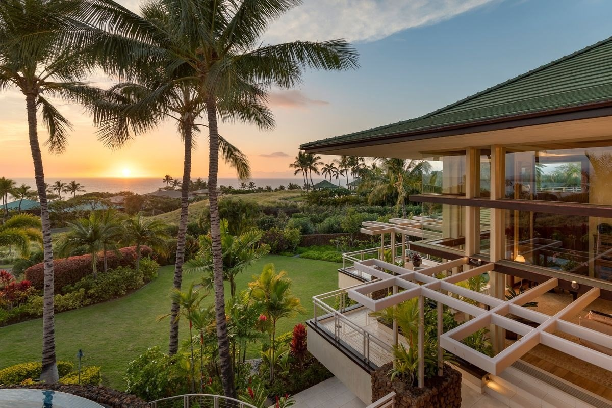"""Timeless. Iconic. Words used to describe The Mauna Kea Resort; a mid-century marvel. They also describe the architecture of Frank Lloyd Wright. In this 9000 sf custom home, conceived by the renowned Hawaiian architect Thomas Bingham, a disciple of the Frank Lloyd Wright School of Architecture, you get both. The home embodies """"organic architecture""""; the seamless transition between indoors and out, where broad overhanging eaves and strong horizontal lines enhance the natural beauty. The estate boasts floor-to-ceiling views of Hawaii Island and thoughtful craftsmanship of exquisite surfaces.Grand in scale, with opulent finishes, this magnificent estate affords privacy and a sense of place for the privileged few. This stunning property offers 6 suites, a 3000 sf covered lanai, high coffered ceilings, pocket doors throughout, motorized shades, afromosia and French limestone floors, a culinarians kitchen, media room with theater seating, an amazing tiled spa, steam room and massage area for your personal day spa, climate controlled wine closet, infinity edge pool, water features, koi ponds, lush landscaping, rockwalls and SO much more!Walk to Hapuna Beach or Kauna'oa Bay, experience the understated elegance of Mauna Kea Resort. A must see for your most discerning clients."""