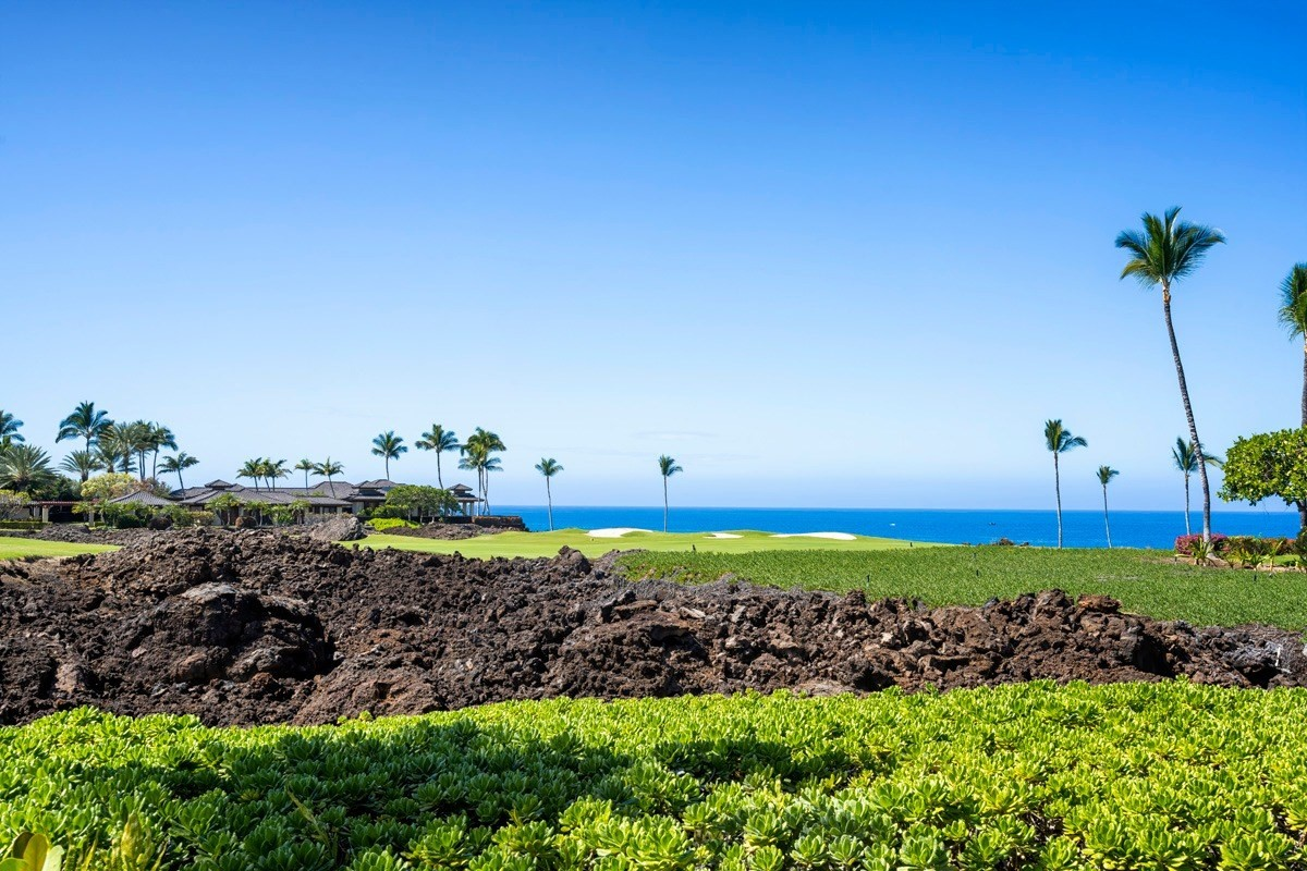 Mauna Lani Point H 102 is a newly renovated, beautifully furnished condo overlooking 15th fairway of Mauna Lani South Course with fantastic ocean views.  This private lower level unit opens to a private outdoor living area and extends out to your own manicured lawn for outdoor enjoyment of golf, ocean and sunset views, perfect for entertaining!One of the best locations in Mauna Lani Resort to enjoy front row unobstructed ocean views directly from your condo.Inside this condo is currently under remodel and will emerge like brand new with quality finishes.  This condo has 2 bedroom suites and 2 ½ baths and new luxury finishes including: beautiful new stone floors, granite counters and new cabinets.  Plumbing has been completely replaced.  Renovation will be complete by end of April.  New high-end furnishings will complete the fresh new design.Mauna Lani Point is one of only two oceanfront condominium communities in Mauna Lani Resort.  This community offers beautiful tropical landscaping and an outdoor entertainment center that includes swimming pool, spa, sauna, entertainment pavilion with full kitchen and BBQ areas.Mauna Lani Resort world class amenities include:- 2 world famous 18-hole championship Golf Courses- 2 Luxury Hotels – Fairmont Orchid & Auberge Mauna Lani- Mauna Lani Beach Club - white sand beach cove perfect for snorkeling & swimming - Napua Restaurant and bar - located on the beach - open for lunch and dinner - Mauna Lani Fitness Club with 6 tennis courts and 25 meter lap pool- Fully appointed locker rooms, steam rooms and fitness classes - Golf Club with Restaurant and Pro shop- Ancient Hawaiian fish ponds with walking jogging paths- The Shops at Mauna Lani - offering fine dining restaurants, shops, galleries, grocery store and live entertainment