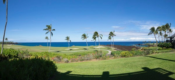 Breathtaking location with golf course frontage and the sound and views of the ocean!Mauna Lani Point is a serene environment with easy access to all the amenities of Mauna Lani Resort.Enjoy a gated community with its own beautifully landscaped grounds, Entertainment pavilion with full kitchen & barbecues next to a heated swimming pool, Sauna and over sized Jacuzzi.The nearby amenities include:~two world famous 18-hole championship golf courses~The Mauna Lani Beach Club restaurant and bar.  It's private white sand beach cove is perfect for snorkeling & swimming.~Uniquely Hawaiian Spa and Fitness Club with 6 tennis courts, 25 meter lap pool, well appointed locker rooms with steam rooms and Pro shop.~Ancient Hawaiian fish ponds with strolling paths~a variety of dining choices and shoppingTake advantage of what the world of Mauna Lani offers and then return to the beauty and privacy of this fully renovated lower level unit open to an incredible outdoor living area!The living area is expanded on either side of the lanai to create a relaxing reading nook and larger great room area. Renovated with attention to detail and quality finishes, every room is pleasing to the eye. ~granite counters~all new kitchen open to the view~stone floors~quality carpeting~decorative use of tile~ large walk-in shower with lovely etched glass~Elegantly and comfortably furnishedThis extraordinary condo is all about Island living at its best!