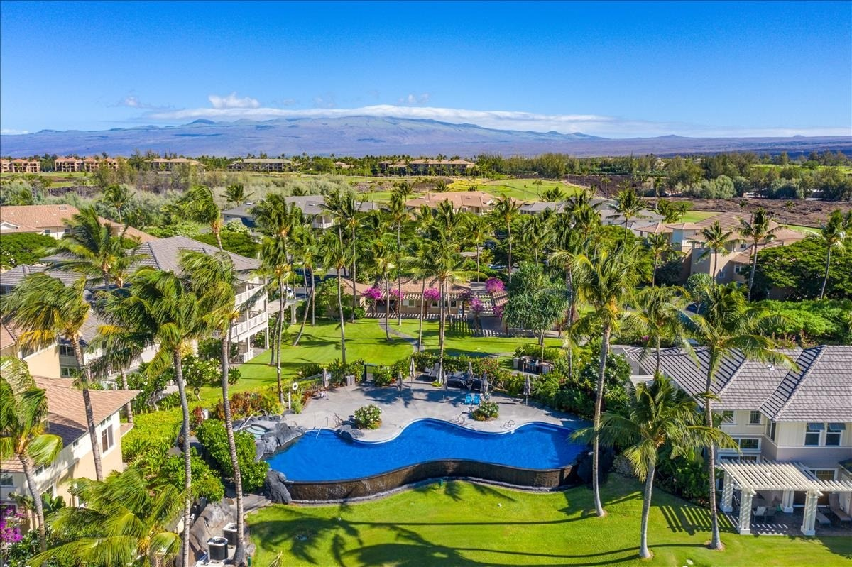 Beautifully upgraded turn key condo with tropical style furnishings.  Enjoy spectacular views of the Kohala mountains across the golf course from your lanai.  The heated pool, spa, fitness room and BBQ area are just some the amenities that owners enjoy here.  There is also an on site resident Manager.  Fairway Villas at Waikoloa Beach Resort is conveniently located close to both the Kings Shops and Queens' Marketplace where you will enjoy a variety of dining options,  boutique style shops as well as a luxury movie theater.  The sunsets cannot be beat at 'Anaeho'omalu Bay ( A-Bay ) which you have the option of either walking or driving to.Recently updated:Primary bathroom remodel that includes a large walk in shower with beautiful tile work completed May 2020.Air Conditioning.Window coverings 2015.Porcelain tile floors throughout 2014.Dishwasher.Refrigerator.Televisions. Living room and Dining room furniture reupholstered 2014.New mattress and luxury bedding.This condo has been operated as a Short Term Vacation Rental when not in use by the owners.
