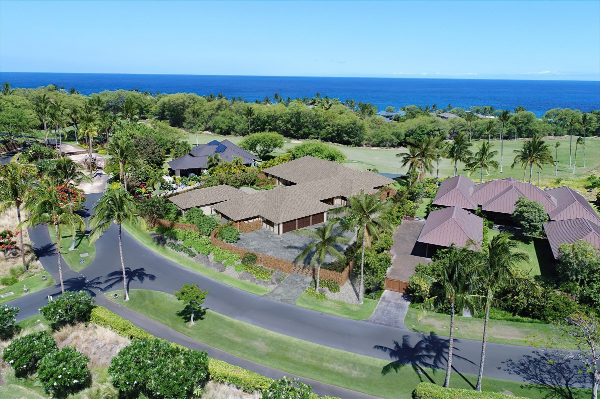 """A rare opportunity to purchase a new, high quality home in the prestigious private gated community of """"Kauna'oa at Mauna Kea"""" located within the iconic Mauna Kea Resort.Construction has commenced and the home is scheduled for completion in May 2022. """"Hawaii Beach Hale"""" provides 4,787 square feet of single level living with six bedrooms and six and a half bathrooms and 1,553 square feet of covered lanai situated on a site of over 33,000 square feet. Being built with a Hawaiian contemporary theme, """"Hawaii Beach Hale"""" offers a unique layout with two separate outdoor entertaining areas. The primary outdoor space with it's generous pool and spa, fire pit and tiki torches overlooks the 12th fairway of the Mauna Kea golf course with views to the ocean, Maui and beyond. The secondary interior courtyard space with it's tranquil reflecting pond provides additional outdoor space to read, relax and enjoy.Top of the line appliances and high quality finishes throughout the home are a Brown Development standard. The home is being sold turn key furnished with exquisite furnishings and accessories by Shirley Wagner of Fine Design Interiors. Plans, finishes and furnishings specs are available upon request. """"Hawaii Beach Hale"""" is located within a short stroll, bike or cart ride to the world famous Kauna'oa Beach at the Mauna Kea Resort providing all the amenities the Mauna Kea has to offer.Owners within Kauna'oa enjoy the benefits of the Kauna'oa Homeowners Club facility including a fitness center, pool, spa, indoor and outdoor massage hale, meeting room, concierge services and a private Weiskopf designed Par 3 practice course with no tee times required.In addition to the Kauna'oa Homeowner amenities, owners will have the opportunity to join The Club at Mauna Kea. Whether it be the Platinum, Gold or Silver membership, there is membership level to suit all tastes and needs."""