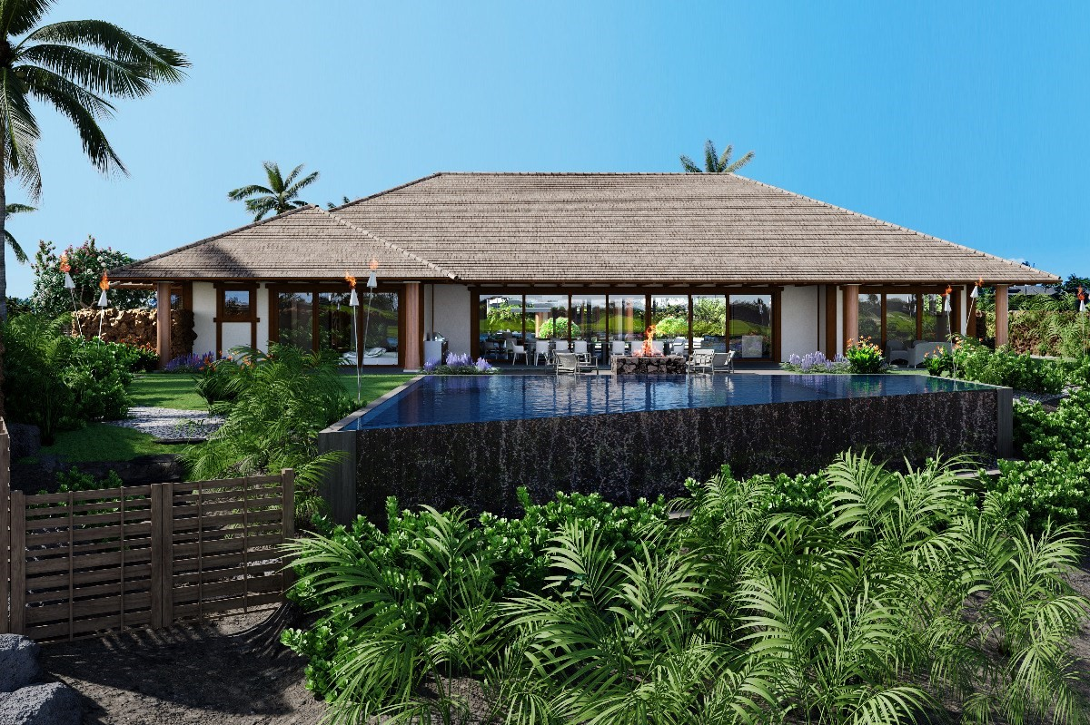 """CONSTRUCTION HAS COMMENCED! A rare opportunity to purchase a new, high quality home in the prestigious private gated community of """"Kauna'oa at Mauna Kea"""" located within the iconic Mauna Kea Resort. Scheduled for completion in May 2022, """"Hawaii Beach Hale"""" provides 4,787 square feet of single level living with five bedrooms plus a office, exercise or """"flex room"""" and six and a half bathrooms and 1,553 square feet of covered lanai situated on a site of over 33,000 square feet. Being built with a Hawaiian contemporary theme, """"Hawaii Beach Hale"""" offers a unique layout with two separate outdoor entertaining areas. The primary outdoor space with it's generous pool and spa, fire pit and tiki torches overlooks the 12th fairway of the Mauna Kea golf course with views to the ocean, Maui and beyond. The secondary interior courtyard space with it's tranquil reflecting pond provides additional outdoor space to read, relax and enjoy.Top of the line appliances and high quality finishes throughout the home are a Brown Development standard. The home is being sold turn key furnished with exquisite furnishings and accessories by Shirley Wagner of Fine Design Interiors. Plans, finishes and furnishings specs are available upon request. """"Hawaii Beach Hale"""" is located within a short stroll, bike or cart ride to the world famous Kauna'oa Beach at the Mauna Kea Resort providing all the amenities the Mauna Kea has to offer.Owners within Kauna'oa enjoy the benefits of the Kauna'oa Homeowners Club facility including a fitness center, pool, spa, indoor and outdoor massage hale, meeting room, concierge services and a private Weiskopf designed Par 3 practice course with no tee times required.In addition to the Kauna'oa Homeowner amenities, owners will have the opportunity to join The Club at Mauna Kea. Whether it be the Platinum, Gold or Silver membership, there is membership level to suit all tastes and needs."""