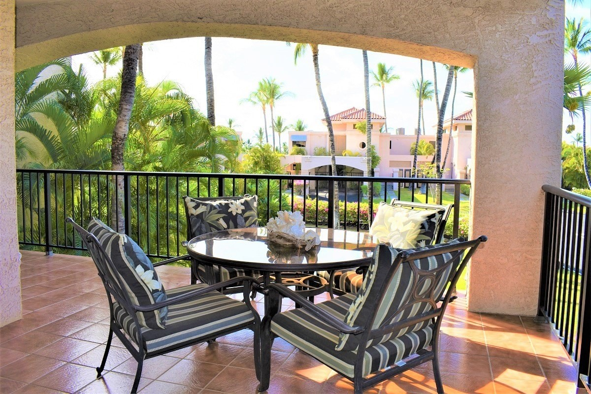 Here's your chance to own this well-maintained fully furnished unit in this desirable resort complex of Shores @ Waikoloa Beach Resort on the Island of Hawai'i. The unit offers central air condition, spacious living room with large windows throughout, granite countertop kitchen with newer appliances, large lanai with wet bar for outdoor entertaining, spacious bedroom with walk-in closet and upgraded double sinks and walk-in shower bathroom.  Complex amenities including a pool, 2 tennis courts, a fitness center, and a hot tub for the outdoor enthusiast, and a short walk to Anaeho'omalu Beach (A-Bay) for snorkeling, sailing, and fun days in the sun at this white sandy beach. Shores @ Waikoloa Beach Resort is a gated community, walking distance to Kings Shop and Queen's Market Place for dining, shopping, movies, concerts, and numerous fun activities all year round. The resort also includes 2 incredible golf courses; Beach Course and Kings Course for the golf enthusiast.Shores complex is a very desirable and popular location for vacation and long-term rentals. A must-see!