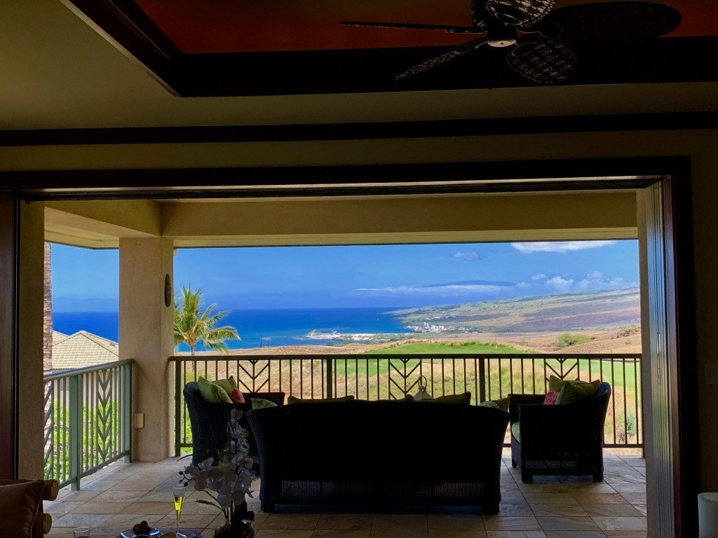Great view of Maui, the harbor, the ocean, and the golf course.  Owners are invited to join the Home Owners amenity club at Mauna Kea.  Enjoy Hawaii's two best beaches, two golf courses, oceanfront tennis courts, two hotel beach clubs as well as on-site amenity center with a fitness center.  This unit has one had this one owner, who lives outside the country and uses it about two months a year!  Great condition.Words just won't explain...you have to feel it...see it here in full 3D  tour: http://bit.ly/WUUi201u